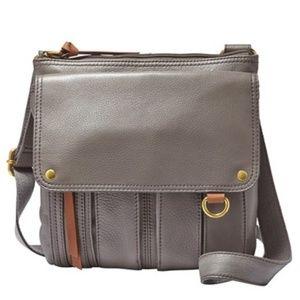 Fossil Morgan Traveler Leather Crossbody Bag